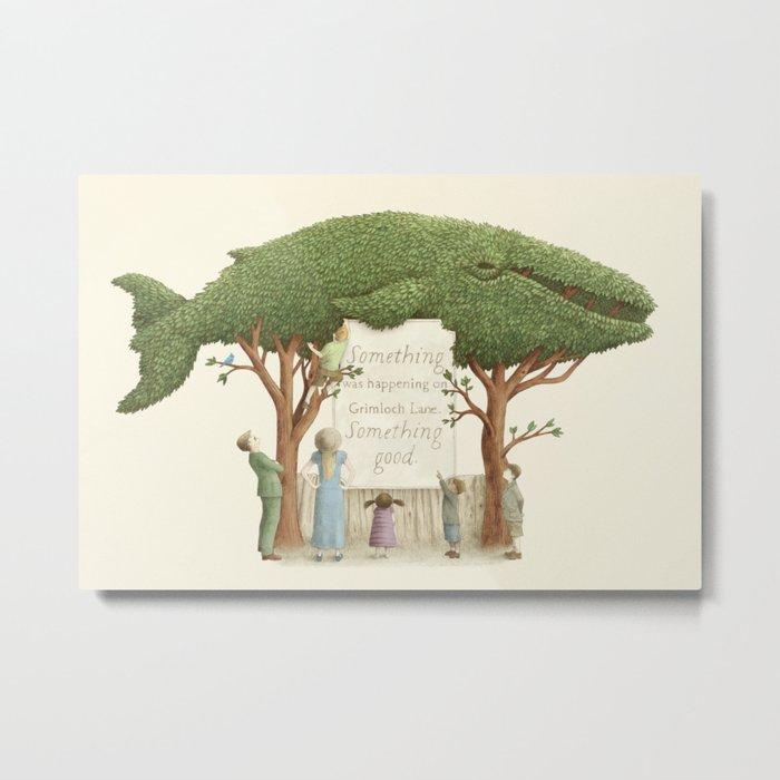 The Night Gardener - Whale Display  Metal Print