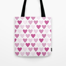 Cute heart seamless vector pattern in pink Tote Bag