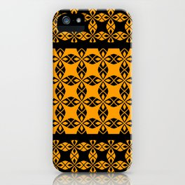 African Ethnic Pattern Black and Orange iPhone Case