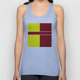 Team Colors 6....Maroon,yellow Unisex Tank Top