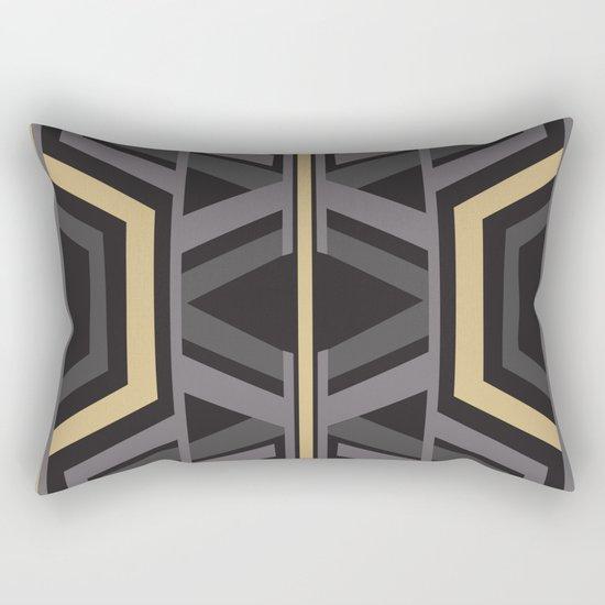 Art Deco Traveller In Grey Rectangular Pillow