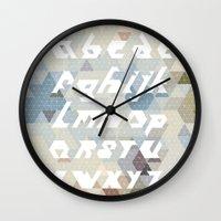 alphabet Wall Clocks featuring Alphabet by Lin Oosterhoff