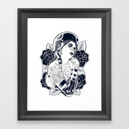 They see me rollin' Framed Art Print