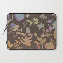 Chateau Brown Chinoiserie Decorative Floral Motif Chintz Laptop Sleeve