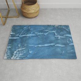 Steel blue painting Rug