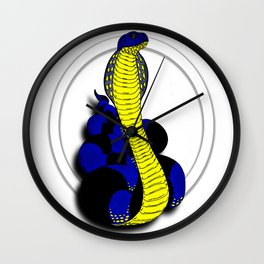 Darrell Merrill Nerd Artist King Cobra Wall Clock