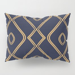 Modern Boho Ogee in Navy & Gold Pillow Sham