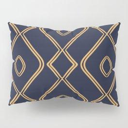 Modern Boho Ogee in Navy & Gold Pillow Sham