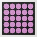 Pastel Pink Geometry (Abstract design in pink and charcoal) by printpix