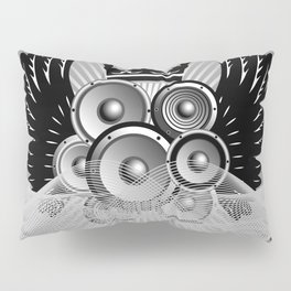 Abstract music illustration with wings Pillow Sham