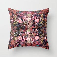 Pink Spot Floral Throw Pillow