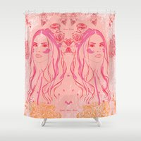 lana Shower Curtains featuring Lana by Esther Bonte