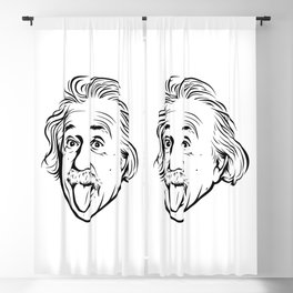Albert Einstein Artwork With his famous photo showing tongue, Tshirts, Prints, Posters, Bags Blackout Curtain
