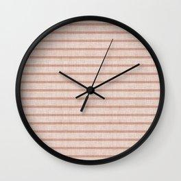 ZHI STRIPE PINK Wall Clock