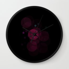 Night Bubbles Wall Clock