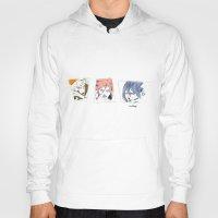 sasuke Hoodies featuring Naruto, Sakura, Sasuke. 15 YEARS by Mendivant