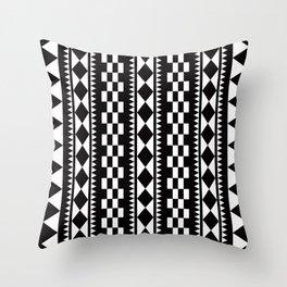Geometric Pattern 177 (edie sedgwick) Throw Pillow