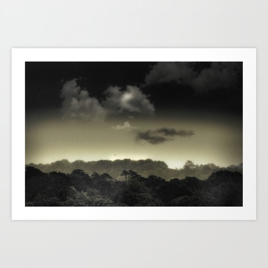 Stored in the Cloud Art Print