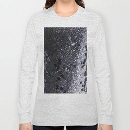 Black and Gray Glitter Bomb Long Sleeve T-shirt