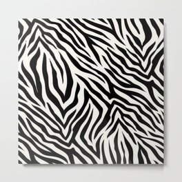 Zebra pattern - Off white - Animal Print - Fashion Trends Metal Print
