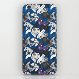 Game On- Blue iPhone Skin
