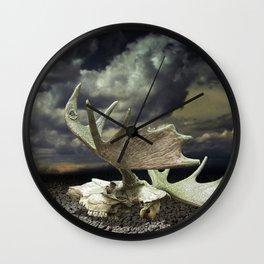 Moose Skull Wall Clock