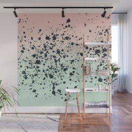 Mint, Blush, Back. Wall Mural