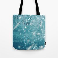 underwater Tote Bags featuring Underwater by adriaaannn