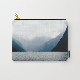 Misty Lake in the Alps Carry-All Pouch