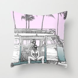 asc 691 -  Book cover for La Musardine Throw Pillow