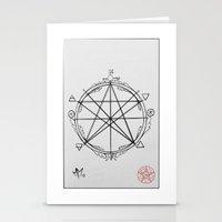 pentagram Stationery Cards featuring Elemental Pentagram by sparkplug95