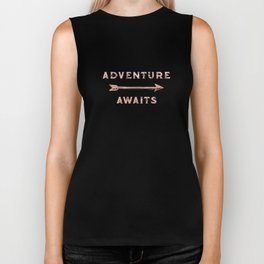 Adventure Awaits Rose Gold Biker Tank
