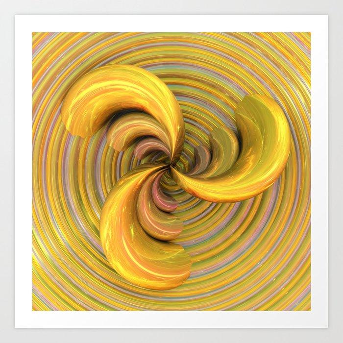 Golden Ribbons Art Print