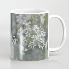 Tinny white flowers and a fly Coffee Mug