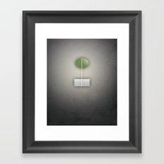 Smooth Minimal - C'est arrivé près de chez vous Framed Art Print