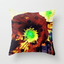 Les coquelicots [2] Copper tremens Throw Pillow