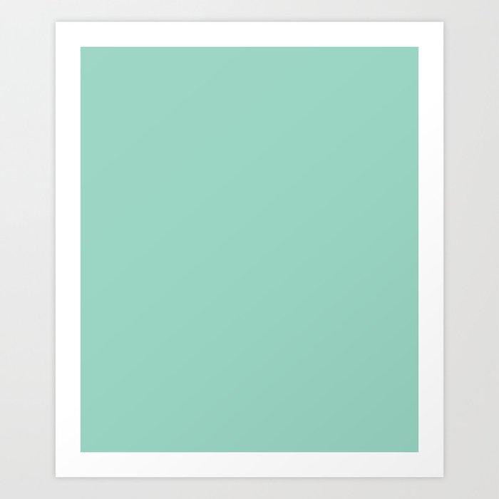 Monocolor Mint Green Kunstdrucke
