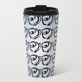 Rows of Flowers, Sky Travel Mug
