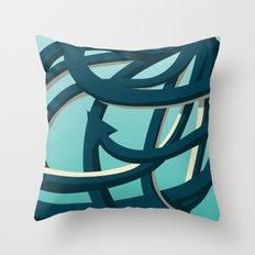 Octopus blue Throw Pillow