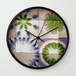 Doleritic Actuality Flower  ID:16165-074049-84781 Wall Clock