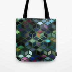 Pastel Boxes Green Tote Bag