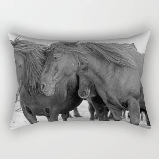 PONIES IN THE WIND Rectangular Pillow
