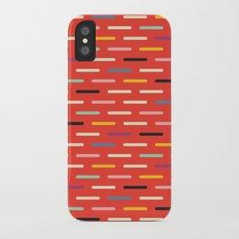 Modern Scandinavian Dash Red iPhone Case