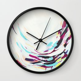 The Healer - Abstract painting #society6 Wall Clock