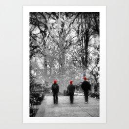 Salt Lake City - Red Hats Art Print