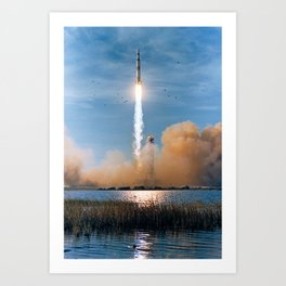 Apollo 8 - Saturn V Liftoff! Art Print