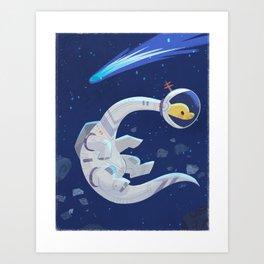 Space Bronto Art Print