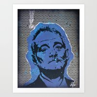 bill murray Art Prints featuring Bill Murray by ChrisCleveland