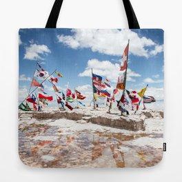 Salar de Uyuni International Flags Tote Bag