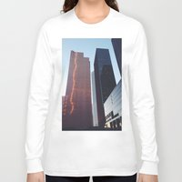 houston Long Sleeve T-shirts featuring Houston by Jorieanne